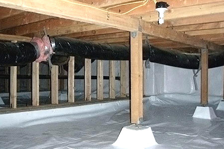 Installed Crawl Space Barrier