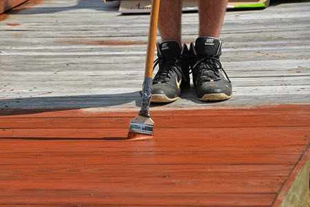 Refinishing a weathered deck
